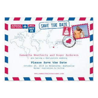 Australia Air Mail Wedding Save The Date 13 Cm X 18 Cm Invitation Card