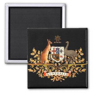 australia coat of arms square magnet