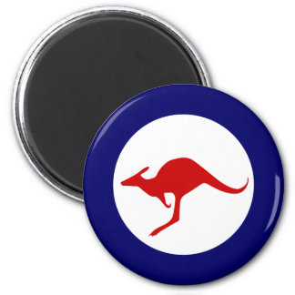 Australia kangaroo military aviation roundel 6 cm round magnet