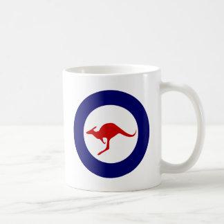 Australia kangaroo military aviation roundel basic white mug