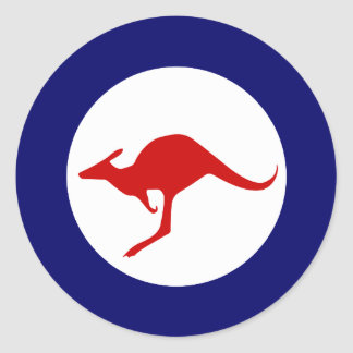 Australia kangaroo military aviation roundel round sticker