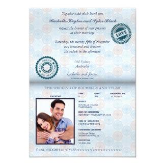 Australia Passport (rendered) Wedding Invitation