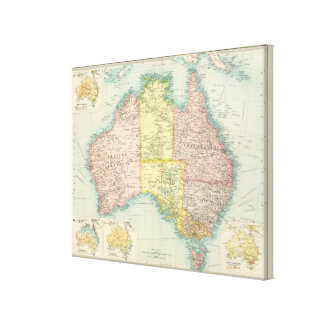 Australia political stretched canvas print