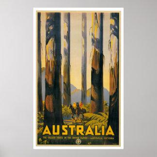 Australia Retro Travel Poster