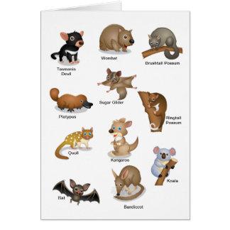 Australian Animal Greeting Card