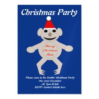 Australian Christmas Koala Bear Custom Invites Magnetic Invitations