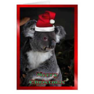 AUSTRALIAN Christmas koala xmas Christmas animals Greeting Card