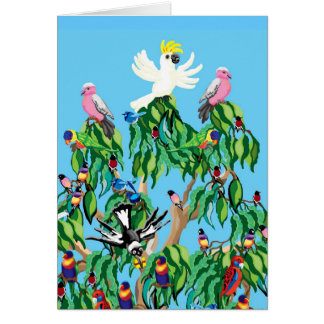 Australian Christmas tree card