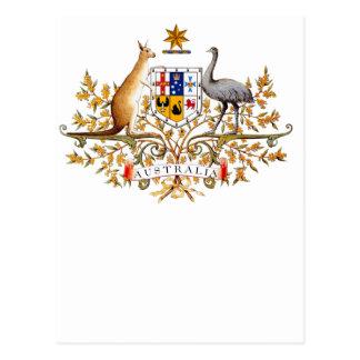 australian coat of arms postcard
