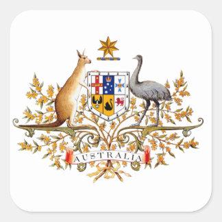 australian coat of arms square sticker