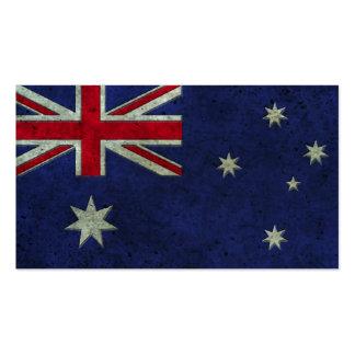 Australian Flag Aged Steel Effect Pack Of Standard Business Cards