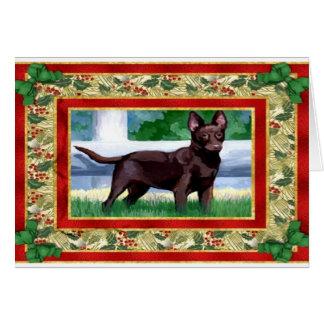 Australian Kelpie Dog Blank Christmas Card