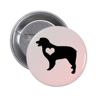 Australian Shepherd Heart Button