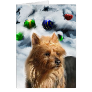 Australian Terrier Christmas Gifts Greeting Card
