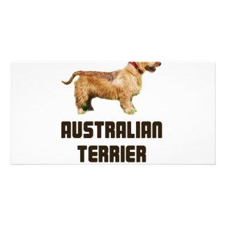 Australian Terrier Custom Photo Card