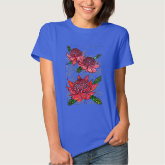 Australian Waratahs Floral Design T-shirts