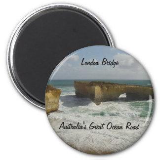 Australia's London Bridge 6 Cm Round Magnet