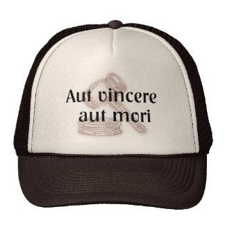 Aut Vincere Aut Mori. Lawyer Hat with Latin Phrase