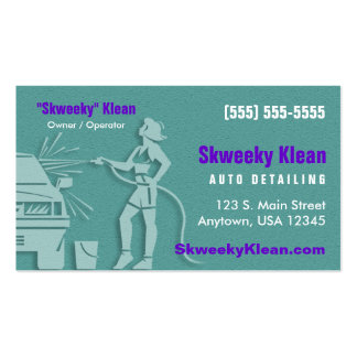 Auto Detailing / Car Wash Pack Of Standard Business Cards