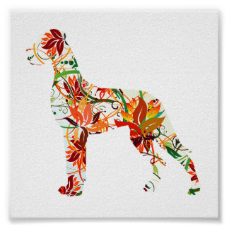 Autumn Great Dane Poster