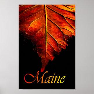 Autumn Leaf Poster   Fall Leaf Poster
