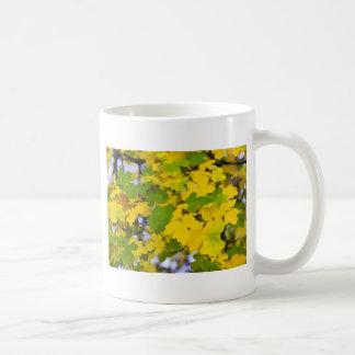 autumn leaves basic white mug