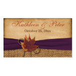 Autumn Leaves FAUX Burlap Wedding Favour Tag Pack Of Standard Business Cards