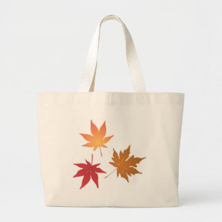 Autumn Maple Leaves Collection Jumbo Tote Bag