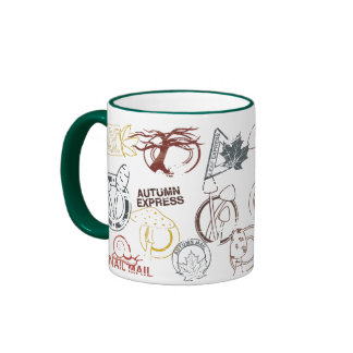 autumn rubber postage stamp mug