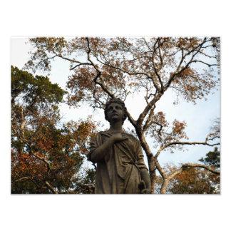 Autumn Statue Photo Print 2012