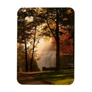 Autumns Waterfall Mist Rectangular Photo Magnet