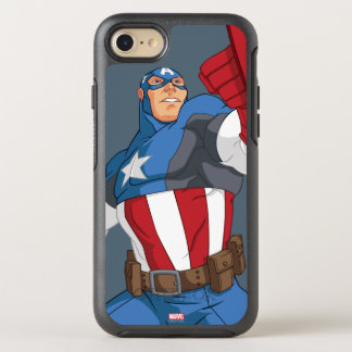 Avengers Cartoon Captain America Character Pose OtterBox Symmetry iPhone 7 Case