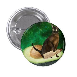 avocado cat 3 cm round badge