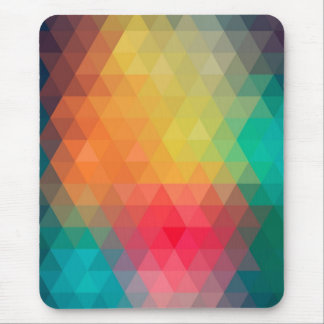 Awesome cool trendy colourful triangles pattern mouse pad