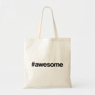 Awesome Hashtag Budget Tote Bag