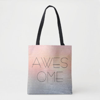 Awesome minimalism ombre silver peach grungy tote bag