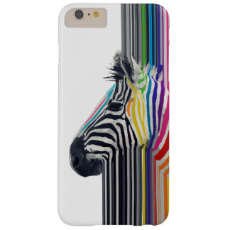 awesome trendy colourful vibrant stripes zebra barely there iPhone 6 plus case
