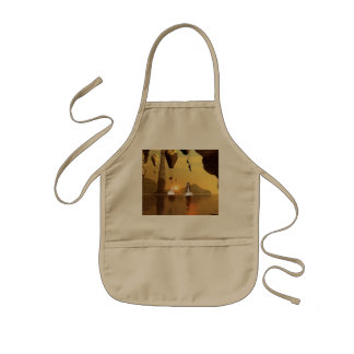 Awesome zeppelin in the air in the sunet kids apron