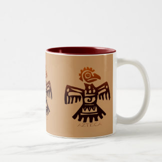 AZTEC ~ Bird Spirit Two-Tone Mug