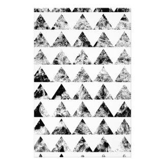 Aztec print black blank Black White Personalized Stationery