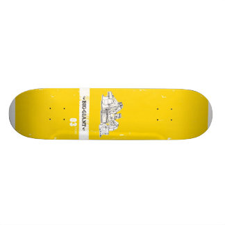 B-G_Deck_Yellow3 21.6 Cm Old School Skateboard Deck