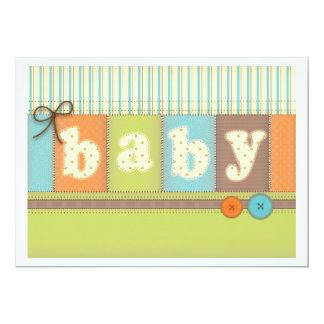 Baby Blanket Cute Quilt Baby Shower Invitation