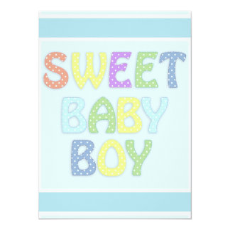 Baby Boy 14 Cm X 19 Cm Invitation Card