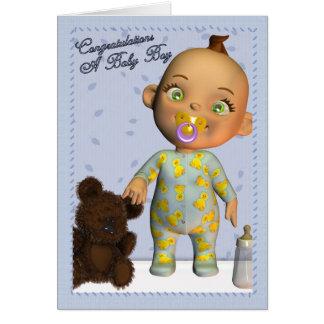 Baby Boy Congratulations Greeting Card