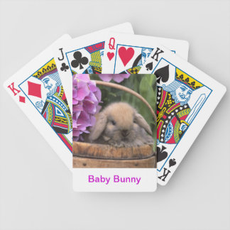 Baby Bunny Rabbit Playing Cards