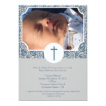 Baby Dedication BOY Baptism Photo Invitation 5x7