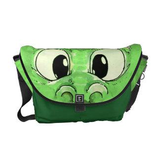 Baby Green Monster Messenger Bag
