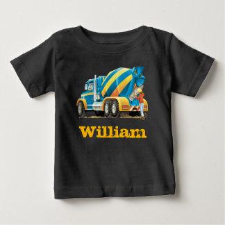 Baby Kids Custom Construction Truck Concrete Mixer T Shirts