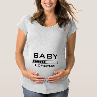 Baby Loading Funny Geeky Maternity Tee Shirt