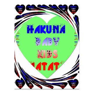 Baby Luminous Hearts Hakuna Matata Baby Kid Design Postcard
